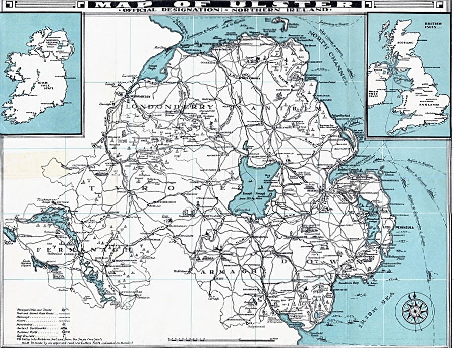 Ulster Guide Map Index Lisburncom
