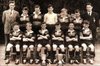 Lambeg Primary School football team who won the league cup in 1955